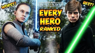 Star Wars Battlefront 2 - Every Hero Ranked from Worst to Best! (Battlefront II)