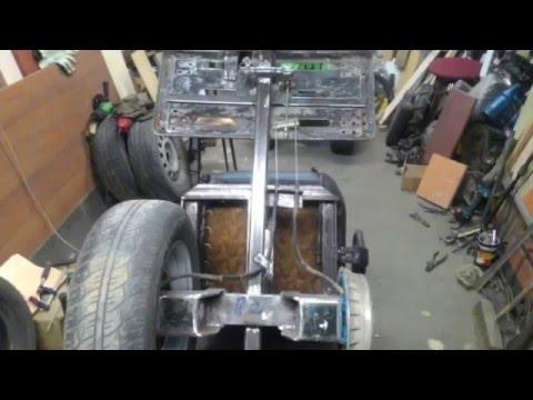 Ленточные тормоза на прицеп к мотоблоку своими руками 7