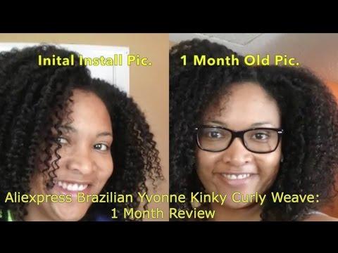Aliexpress Yvonne Brazilian Kinky Curly: 1 Month Review
