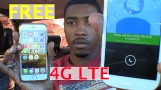 How to get Free 4G LTE Internet on your IPhone or Android + Calling