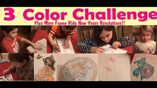 3 Color Challenge + Kids New Years Resolutions!