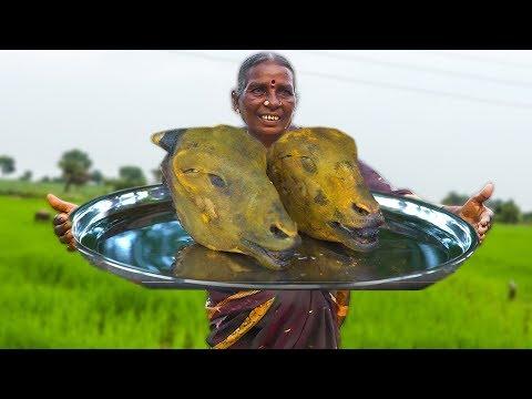 Big Goat Head Curry Making