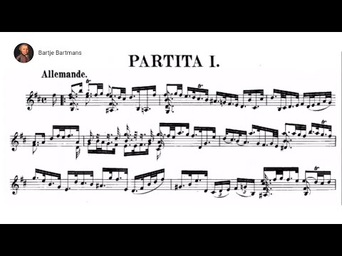Бах Иоганн Себастьян - Sarabande from Partita in Bm for Violin