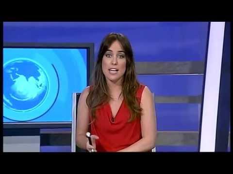 Carlota Vizmanos presentadora de informativos en Real Madrid Televisión
