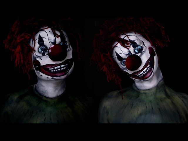 Poltergeist Clown Movie Makeup Tutorial 2015