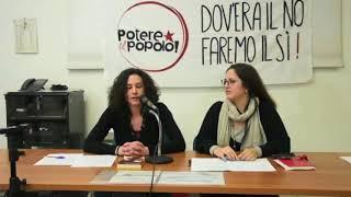 """Giulia """"Caua"""" Carraro  per Potere al Popolo"""