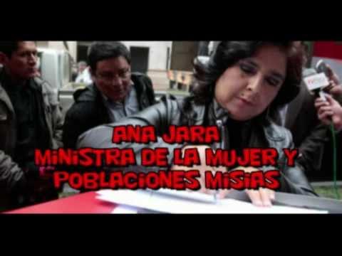 Corruptos Del Perú (3 de 50) ANA JARA Ministro De La Mujer y Pobres- Gobierno Humala (continuara)