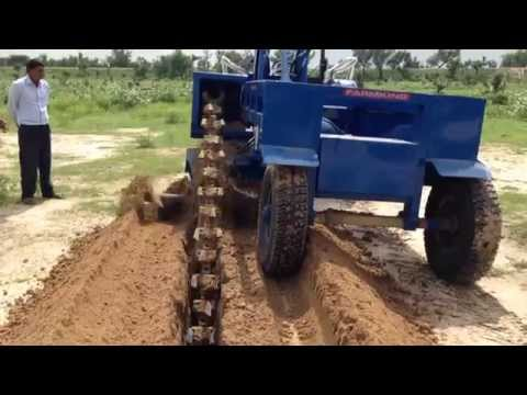 Tractor Trench Digger with New Holland by FARMKING INDIA