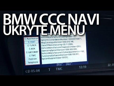Ukryte menu nawigacji BMW iDrive CCC (E60 E90 E81 E63 X5 X6)