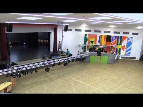Aufbau U15 Vofi ASG Hürth - Stufe Q2 - DJ + Licht Equipment - Zeitraffer