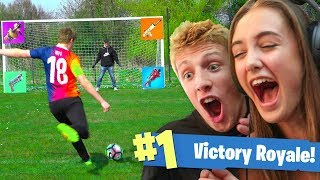 WORLD CUP FORTNITE FOOTBALL vs MY SISTER