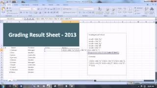Excel Bangla tutorial Grading Result sheet