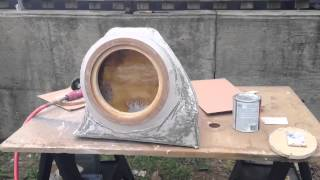 Fiat 500 Abarth Custom Subwoofer Box fiberglass