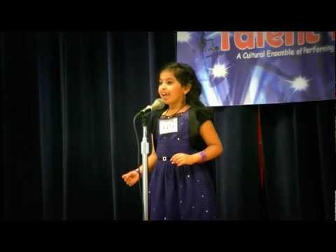 Kagw Talent Time 2012 - Shriya's Malayalam Recitation- Won 1st Place - Kavyanarthaki video