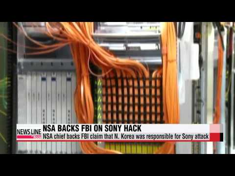 NSA director backs FBI claim that N. Korea is behind Sony cyber attack   미 NSA 국