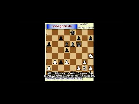 Schach für Anfänger. Computer spielt ohne Dame und zwei Türme (Untertitel). HD