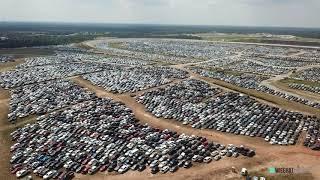 Texas World Speedway - Hurricane Harvey Flooded Car Storage