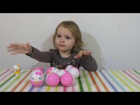 Хеллоу Китти яйца с сюрпризом/ HELLO KITTY/ обзор игрушек