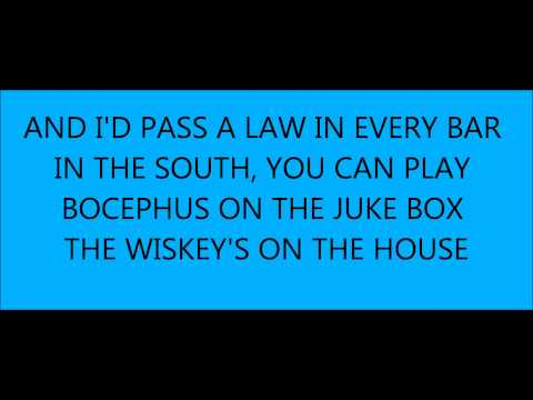 whiskey on the house with lyrics- frank foster