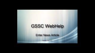 GSSC Web Help - Enter News Article