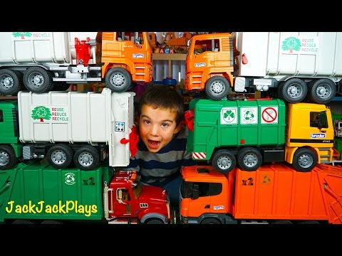 Bruder Recycling Truck Surprise Toy Unboxing - Garbage Truck Videos for Children