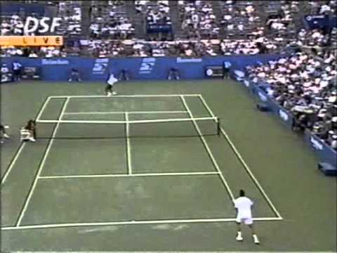 Pete Sampras great shots selection against Alex Corretja (US Open 1996 QF)