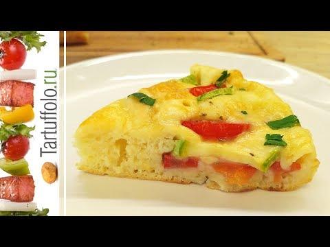 Быстрый пирог (пицца) на сковороде с кабачками! Очень вкусно и сочно!
