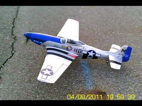 Nitroplanes Airfield 1450mm P-51 using my Keychain cam 808 #3
