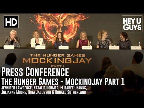 The Hunger Games Mockingjay Part 1 Press Conference (Jennifer Lawrence, Natalie Dormer)