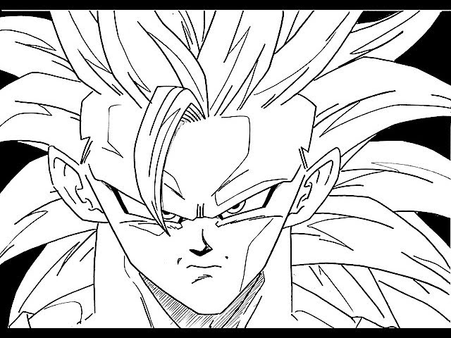 HOW TO DRAW GOKU SSJ3 孫悟空