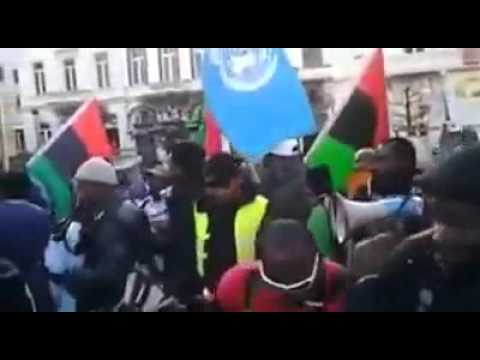 IPOB Biafrans Protesting at EU Parliament in Brussels, Belgium