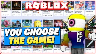 Roblox Live! 🔴|You Choose the Roblox Game for me! 😃🔥|Come Join us! 😃