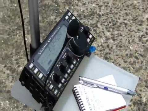 HF QRP SYSTEM MOUNTED ON A BANNER HOLDER - 3 Watts QRP DX TO 9A209A In CROATIA