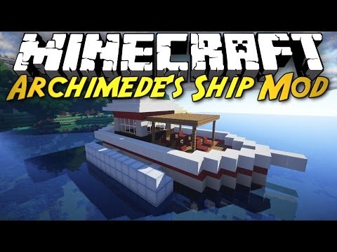 Minecraft Mod Showcase: Archimede's Ships! [BUILD YOUR OWN BOATS. BALLOONS. AND CARS!]