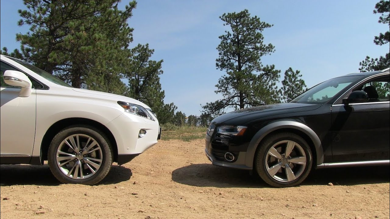 2013 Audi Allroad vs Lexus RX 350 Off-Road Mashup Drive & Review - YouTube