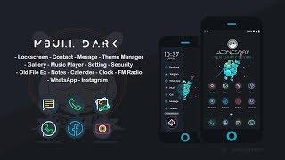 [PREVIEW] MIUI 9 THEME - Mbull Dark.mtz by.Welly Ijaya 2.27 MB