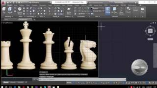 AutoCAD 2D&3D modeling Chess pieses and Table (Part3)