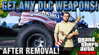 "GTA 5 Online How To Get ""DLC Weapons!"" (After Removal) - Modded Missions Patch 1.20 + 1.22!"