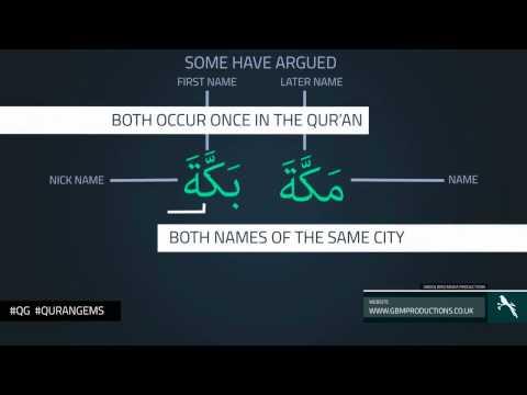 Makkah Bakkah | Linguistic Miracles of Qur'an | al-islam.cf