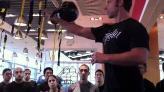 Kettlebell Clean-Shawn Mozen explains how to master the Insert in a Kettlebell Clean