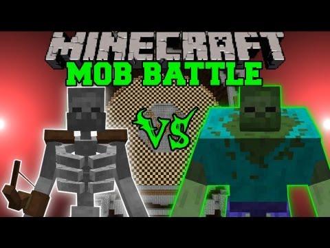 MUTANT SKELETON VS. MUTANT ZOMBIE - Minecraft Mob Battles - Arena Battle - Mutan