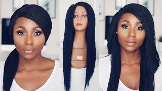 HOW TO STYLE A BRAIDED WIG | REALISTIC MICRO BRAID WIG  FT ANNE ELISE REAL HAIR | DIMMA UMEH