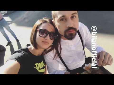 Дима Билан и Ольга Бузова на съемках клипа Лабиринты, 03-05-2017