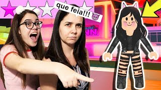 MINHA MÃE DANDO ESTRELAS NAS ROUPAS DO FASHION FAMOUS!!! - ROBLOX (DIA DAS MÃES)
