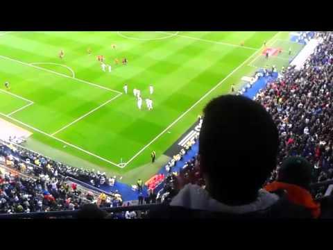 Estadio Santiago Bernabéu: Gol Sergio Ramos (Real Madrid 4 - Osasuna 0) [26/04/2014]