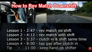 How to: Rev Match Downshift Manual Transmission in 4 steps