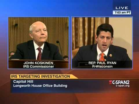 Watch Paul Ryan Take The IRS To Task For Losing Years' Worth Of Emails