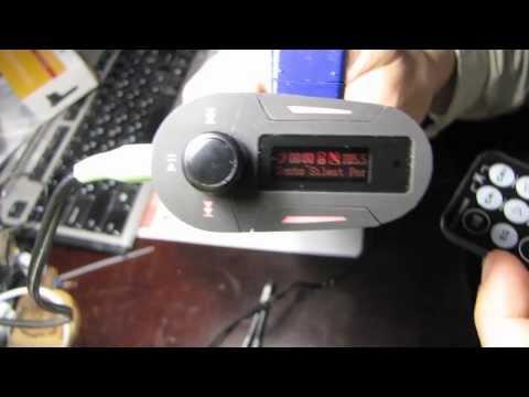 Автомобильный MP3 Player FM modulator обзор