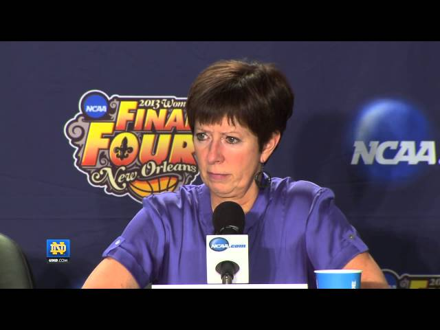 Post Game Press Conference Final Four - Notre Dame Women's Basketball