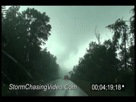 4/27/2011 Eutaw, AL Tornado Crossing The Road B-Roll Footage